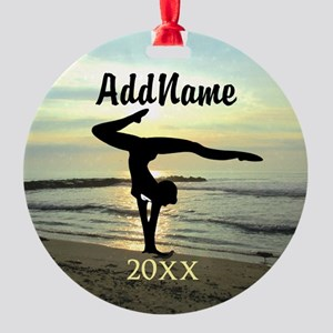 DARLING GYMNAST Round Ornament